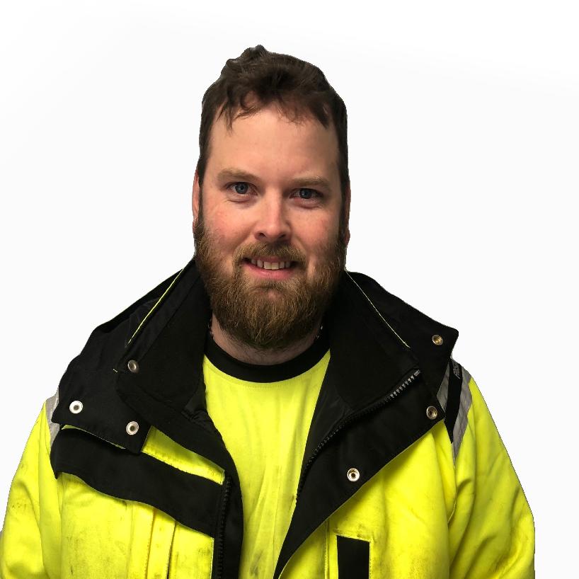 Porträtt av Jonathan, demontör på Svanvik